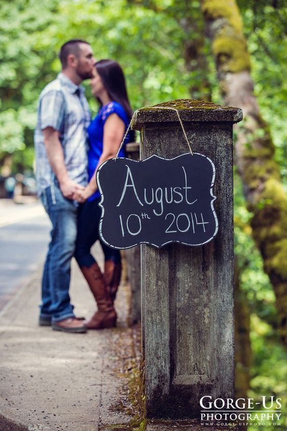 Chalkboard Sign Save The Date Ideas