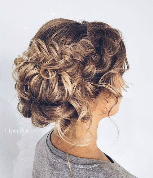 Chic Updos For Medium Length Hair Beautiful Messy Bridal