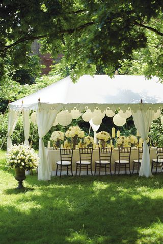 Classic White Wedding Ideas under the tent