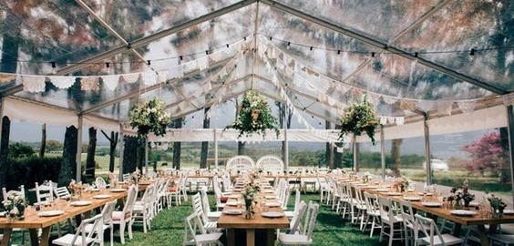 Clear Marquee Reception by Byron Bay Wedding