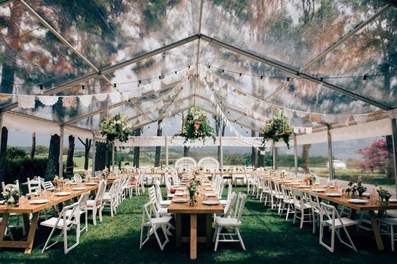 Clear Marquee Reception by Byron Bay Wedding - 22 Outdoor Wedding Tent Decoration Ideas Every Bride Will Love!