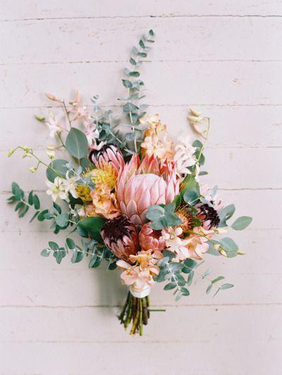 DIY Maui King Protea Wedding Bouquet Ideas
