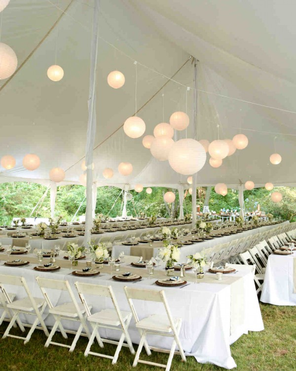 22 outdoor wedding tent decoration ideas every bride will love decorate your wedding tent with lanterns junglespirit Choice Image