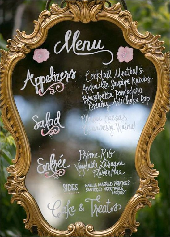 27 Vintage Mirror Wedding Sign Decoration Ideas