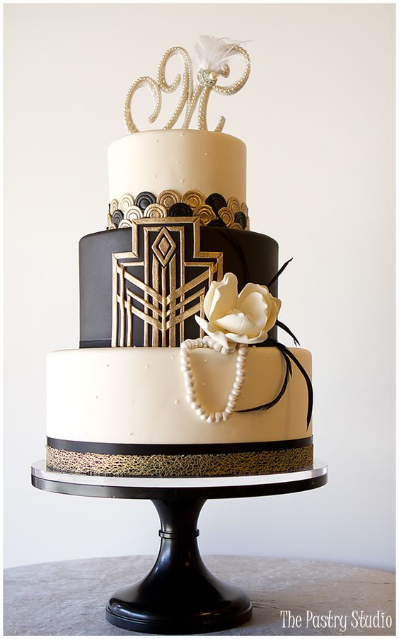 Gatsby-Art Deco Cake Design by The Pastry Studio