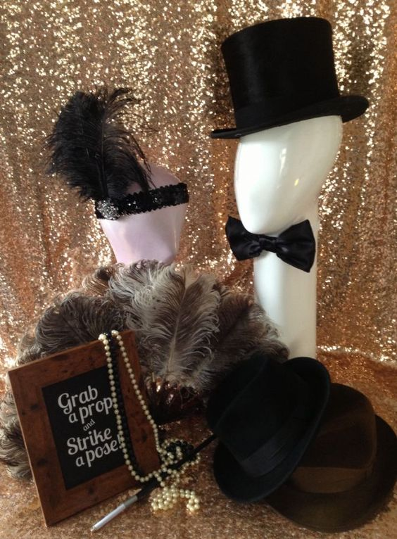 Great Gatsby inspired photobooth to have at your wedding or party that won t break your budget will