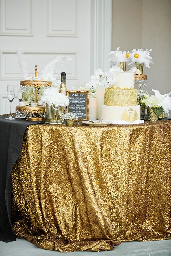 Great Gatsby wedding inspiration that brings an iconic revival of the fabulous charm of the Roaring Twenties