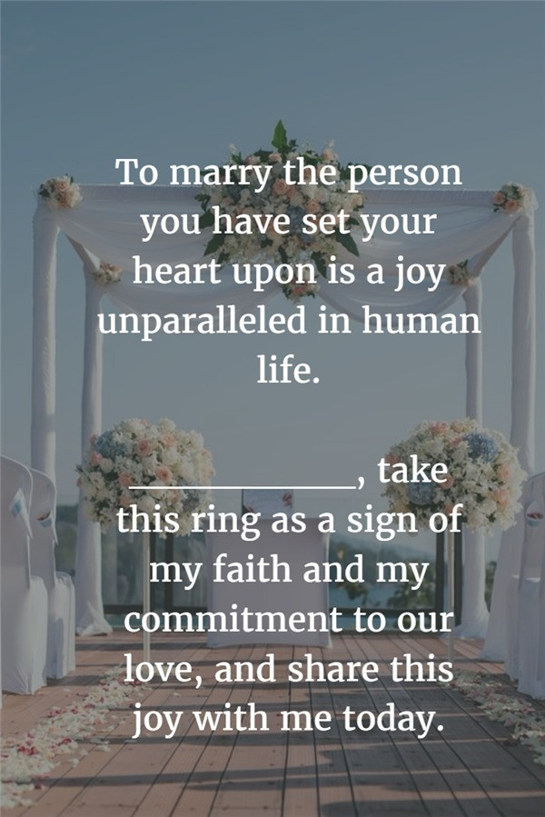 Heart Set wedding vows examples
