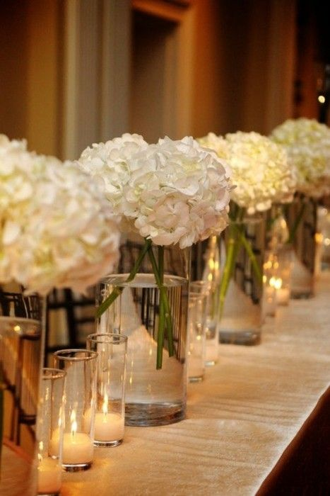 Hydrengeas - Wedding Centerpieces by Bakman Floral Design