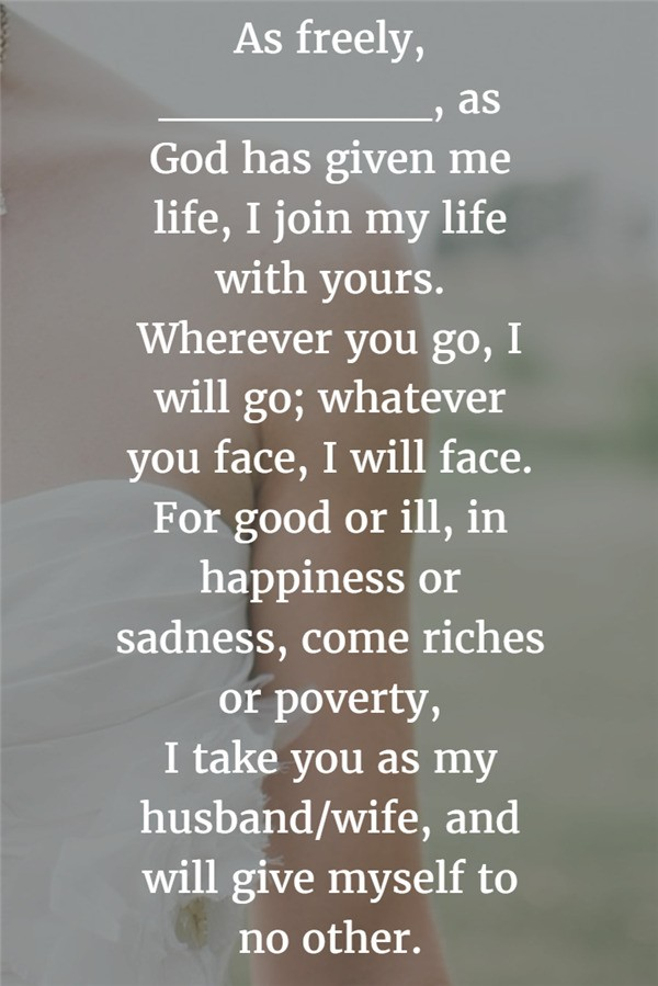 I join my life with yours