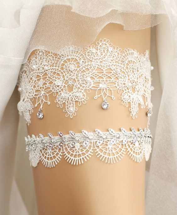 Lace Wedding Garters Garter Sets under $50