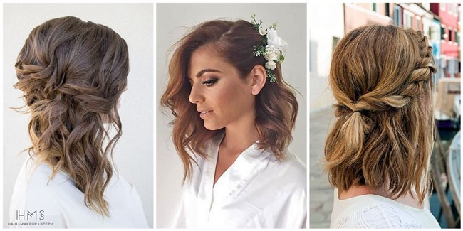 24 Lovely Medium-length Hairstyles For Fall Weddings