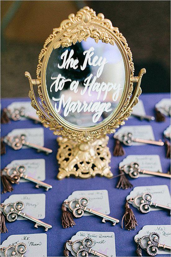 Navy and purple Great Gatsby inspired wedding decor ideas