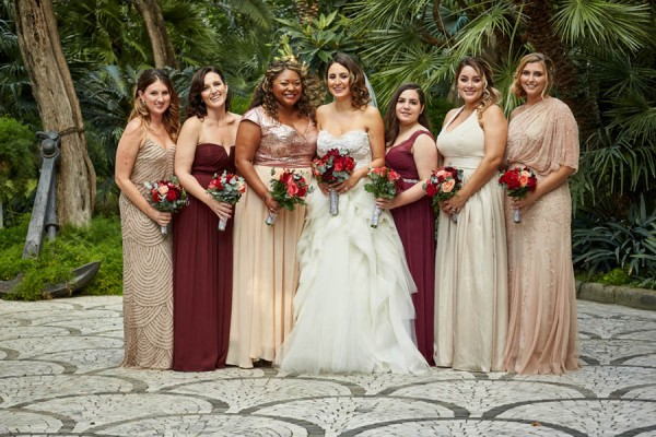 Rose Gold Burgundy Italian Wedding Villa Silvana