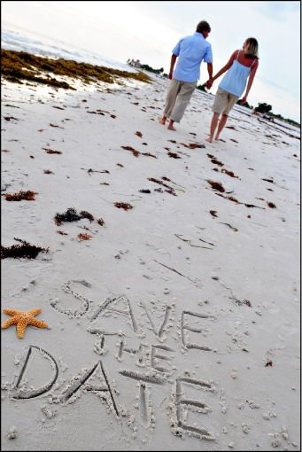 Save the date on Beach