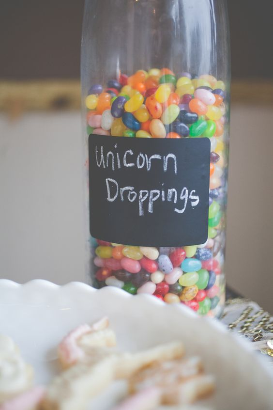 Shabby Chic Unicorn Party Droppings