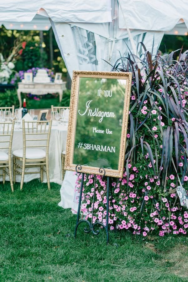 Skip Chalkboards, for a Glam wedding try Mirror Signs
