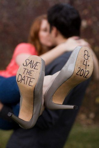 Stilletos Save The Date Photo Idea