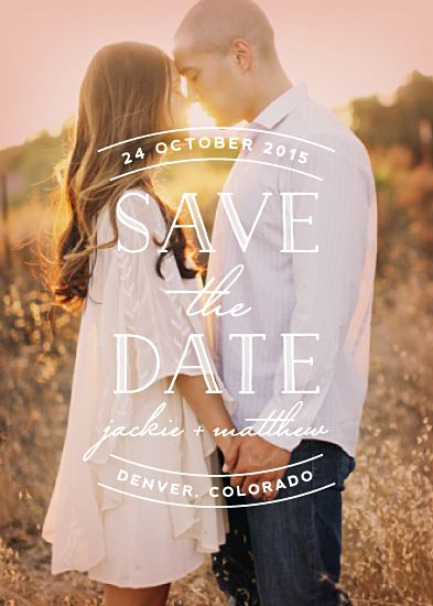 Sweet Embrace save the date card from Minted