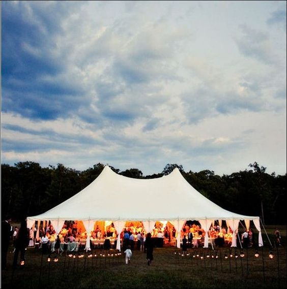 Warm and magical about white tent weddings in a backyard