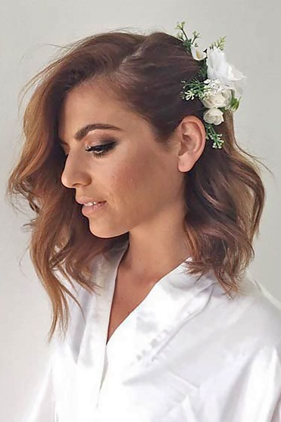 Wedding Hairstyles for Short to Mid Length Hair