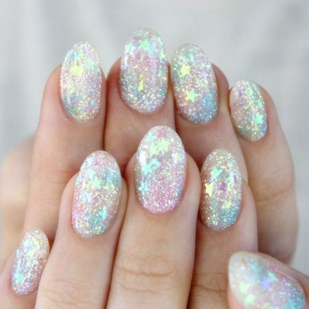 add a unicorn Nail art to your bridal shower