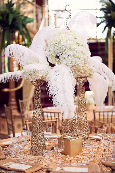 great gatsby wedding centerpiece ideas