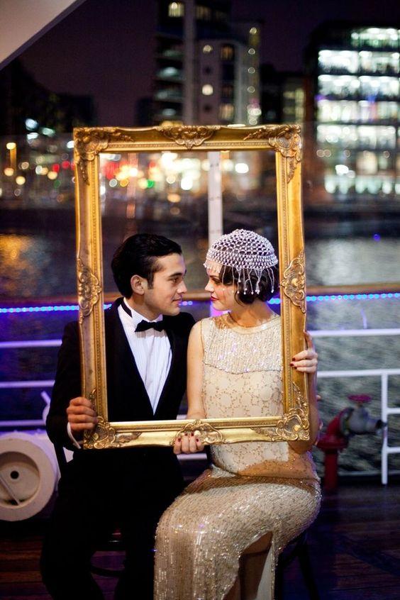 great gatsby wedding photo ideas