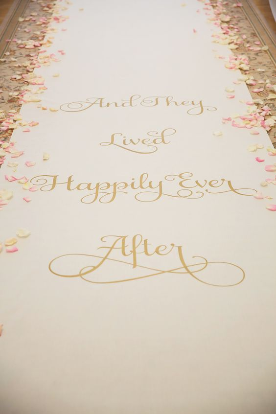 happily ever after aisle runner photo by vitalicphoto