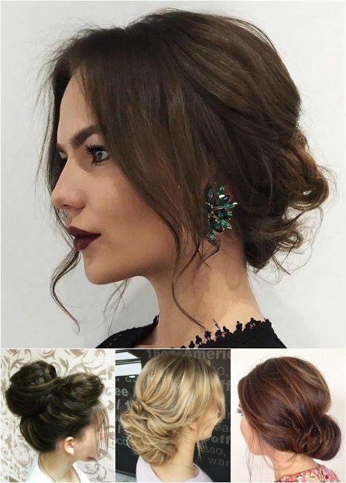messy bun updos for medium length hair