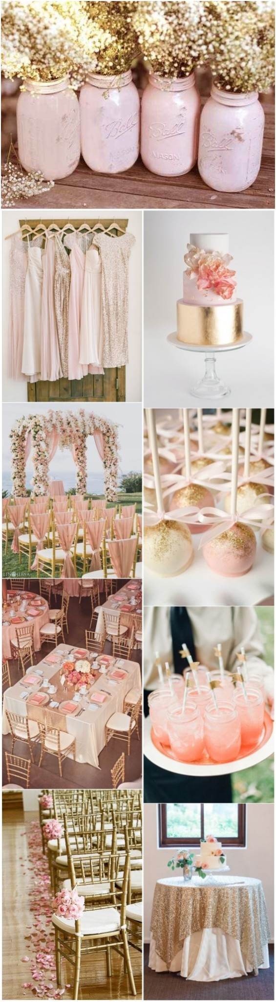 pink and gold wedding color ideas