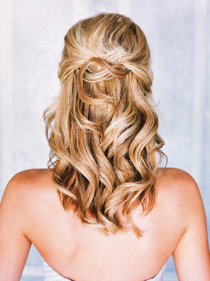 prom hairstyles half up half down curly medium hair