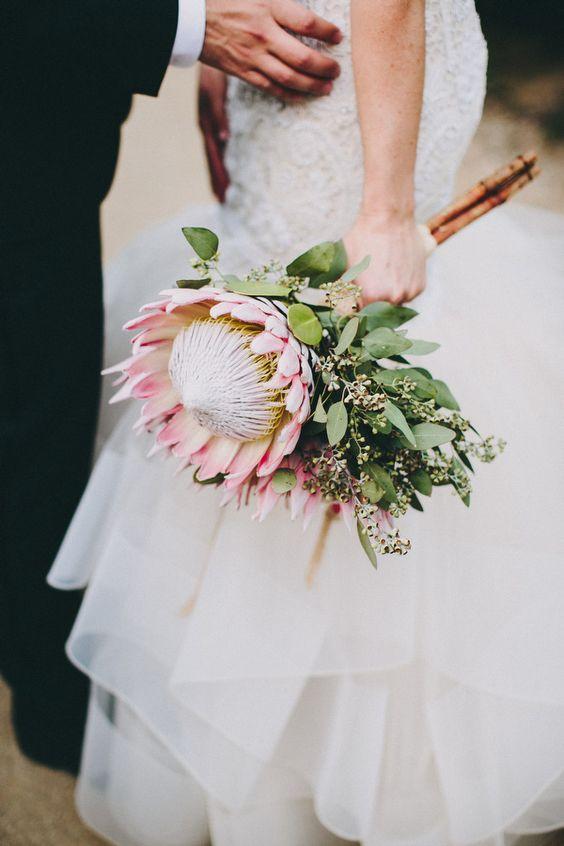 protea bouquet photo by Lauren Scotti via Ruffledblog