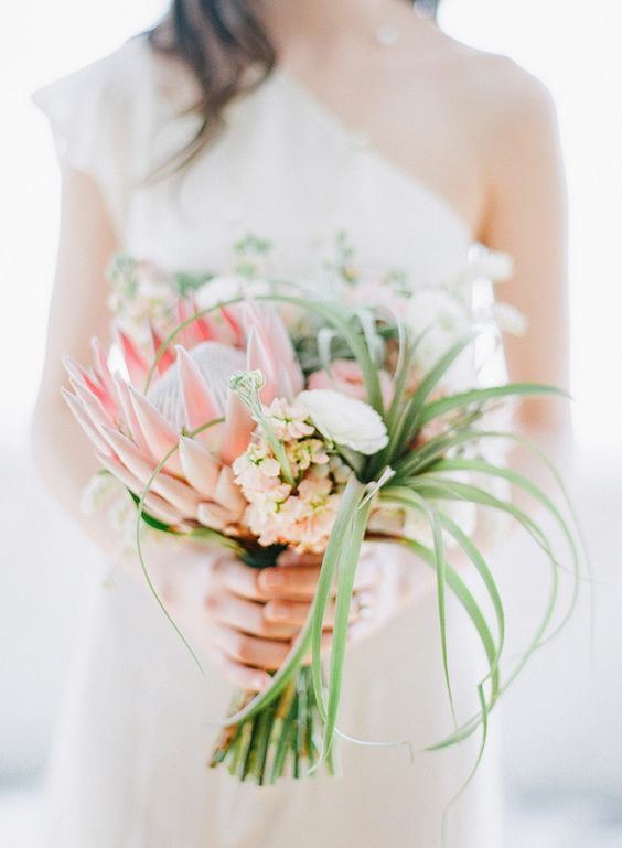 tropical bouquet photo by Blush Wedding Photography