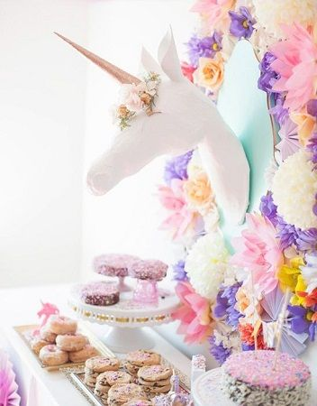 unicorn Decoration ideas for bridal shower party
