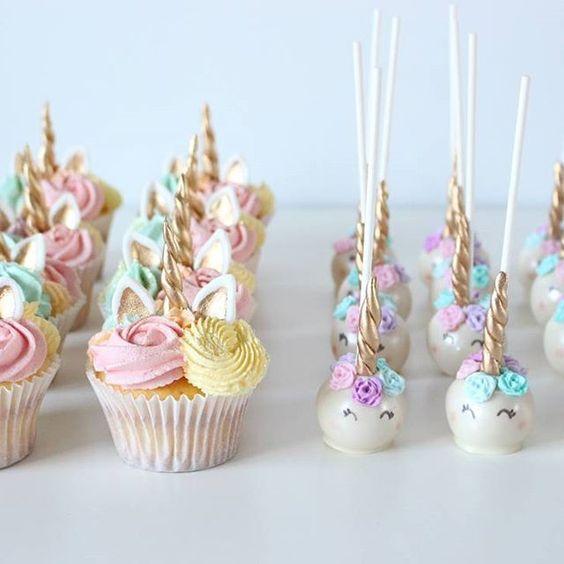 unicorn cupcakes & unicorn cakepops