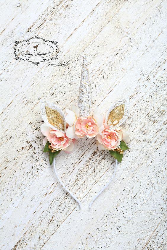unicorn headband for bridal shower party