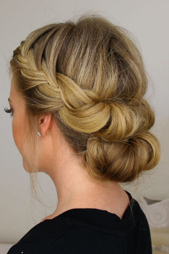 updos and braiding hairstyles for your medium and shoulder length hair