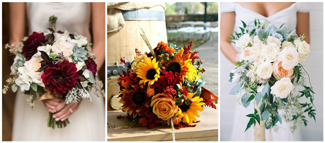 26 prettiest fall wedding bouquets to stand you out junglespirit Image collections