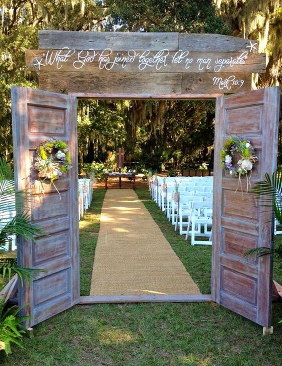 Backyard Wedding Ceremony Path