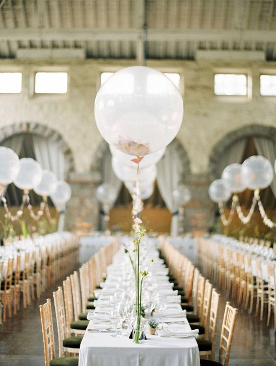 Balloon Wedding Centerpiece