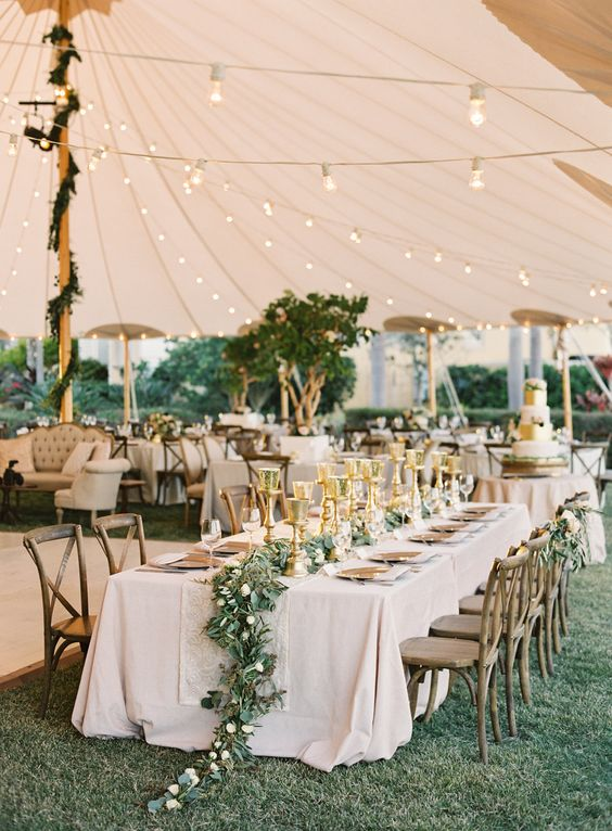 Breathtaking tented wedding reception