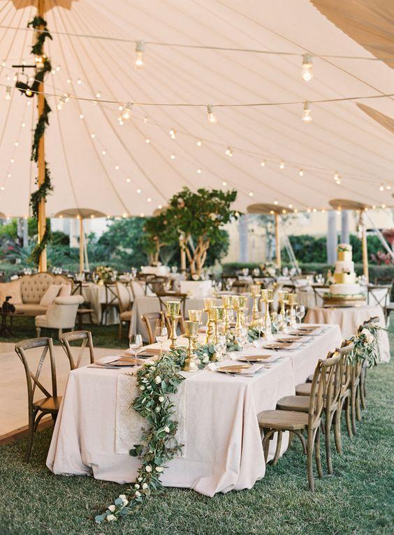 Breathtaking tented wedding reception