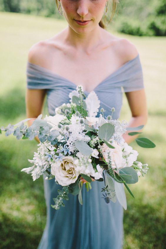 Cream & Dusty Blue Summer Real Wedding