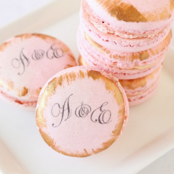 Custom Macarons Wedding Favors