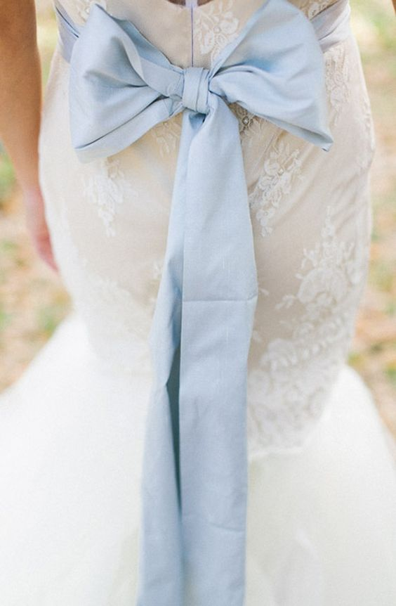 Cute Dusty Blue Bow - Wedding Colours