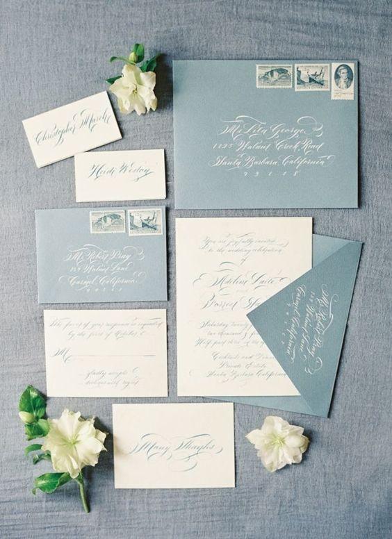2019 Wedding Inspiration Dusty Blue Wedding Color Ideas