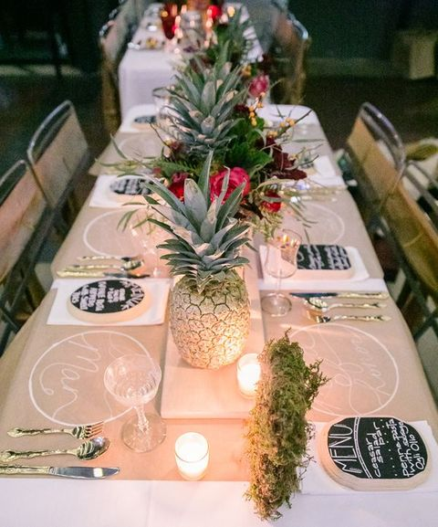 Modern Tropical Pineapple Wedding Ideas by Chloe