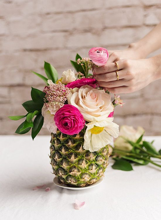 Modern Tropical Pineapple vases are the perfect touch to create a truly tropical wedding