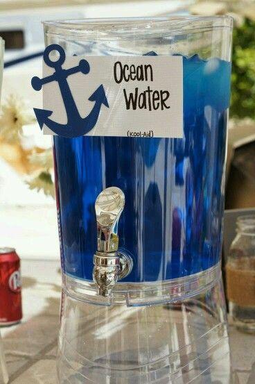 Nautical Wedding Drink Bar Idea